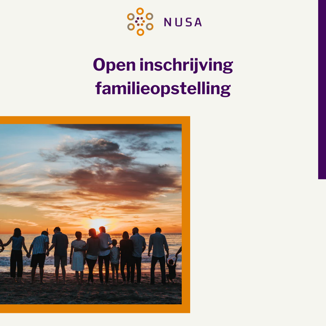 Open inschrijving familie opstelling